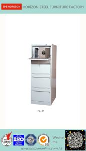 Steel Safe Cabinet with Full Width Recess Handle for F4 Foolscap Size Hanging File Storage/Metal Cabinet for France Market