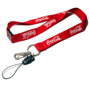 Printed Cut Logo Polyester Lanyards for Promotional Gift pictures & photos