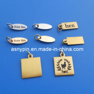 china brass stamped custom engraved logo metal jewelry tags