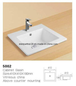 Ceramic Cabinet Washbasin, Bathroom Cabinet Wash Basin, Cabinet Wash Sinks pictures & photos