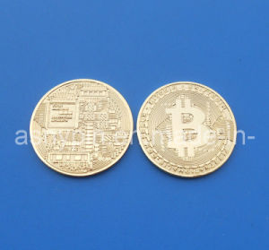 Copy Gift Gold Bitcoin, Custom Souvenir Coin pictures & photos