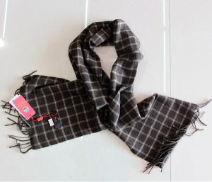 100% Yak Wool Scarf / Men's Yak Wool Scarf / Plaid Yak Cashmere Wool Scarf