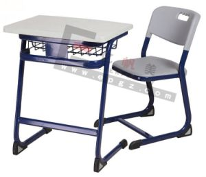 China School Furniture for Single School Desk and Chair Set pictures & photos