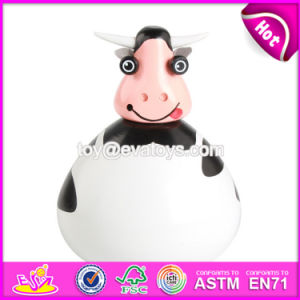 New Products Kids Cartoon Wooden Cow Piggy Bank W02A251 pictures & photos