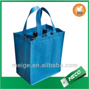 Free Shipping Custom 6 Bottle Non Woven Wine Bag (MECO494) pictures & photos