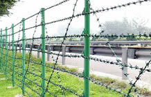 Used-Friendly Barded Wire Fence S0108