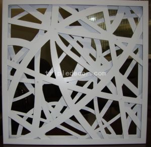 Irregular Customized Aluminum Carving Mesh Ceiling Tile