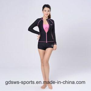 2961c5a80e3 China Women Sexy Long Sleeve Zip-up Top Track Suit Rash Guard ...