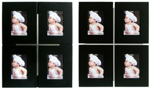 Wall Gallery Wood Aluminum Photo Frame (PF-00166)