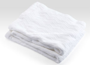 Woven Herringbone Weave Pure Cotton Blanket pictures & photos