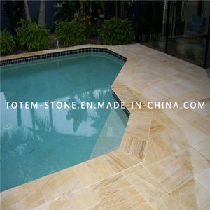 White Stone Sandstone Swimming Pool Coping for Paver