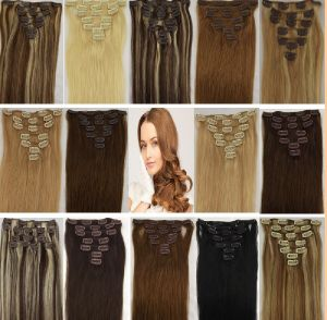 100% Remy Clips in Human Hair Extension