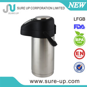 NEW STAINLESS STEEL BODY  THERMOS   PUSH LEVER