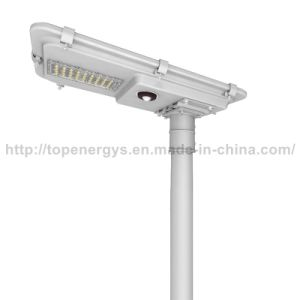 30W 160lm/W 5200lm All in One Integrated IP66 Lithium Battery Solar LED Street Light pictures & photos