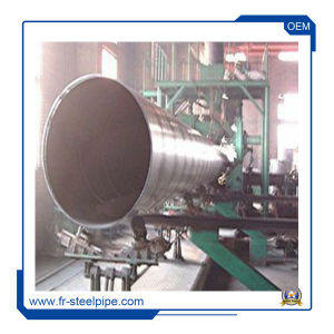 Welded Beveled Edge Round Steel Pipe Thick Walled Spiral Steel Pipe  Submerged Arc Welding Tublars