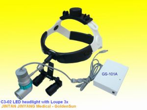 Dentist Dental Head Wearing Magnifier with LED Light pictures & photos