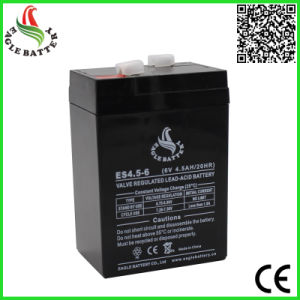 6V 4.5ah VRLA Rechargeable Sealed Lead-Acid Battery