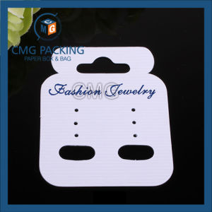 High Sales White Plastic Hook Jewelry Earring Display Card (CMG-106) pictures & photos