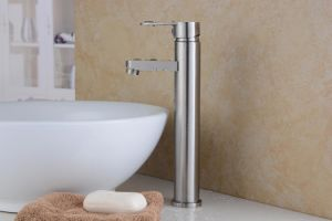High Body Single Handle 304 Stainless Steel Vessel Faucet (HS15002H) pictures & photos
