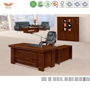 Red Panel Painting Office Executive L Shaped Desk (HY-NNH-K54-18) pictures & photos