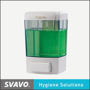 Svavo 700ml Wall Mounted Manual Refill Soap Dispenser Press Hand Plastic V