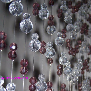 Violet Crystal Glass Bead Line Curtain Without Track pictures & photos