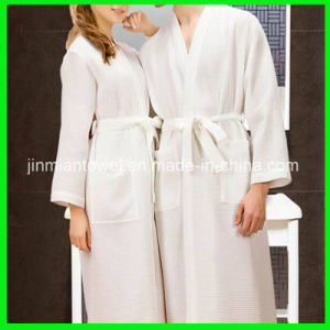 52b74e4d17 China 100% Cotton Waffle Embroidery Wholesale Bathrobe - China Robe ...