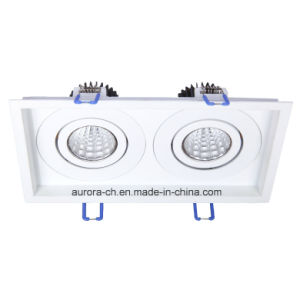 Energy Saving Square Recessed Double Head LED Ceiling Downlight (S-D0009-D)