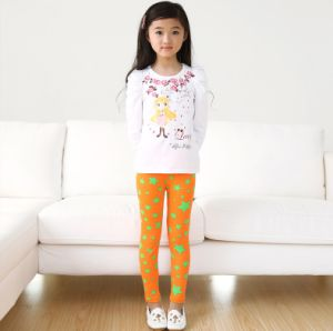 OEM 2015 Good Quality Breathable Star Printed Children Leggings pictures & photos
