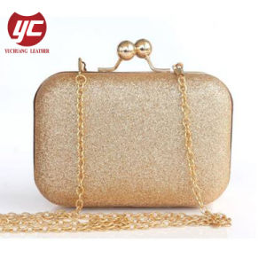 b241b016e3f0 Classic Shiny PU Fashion Ladies Designer Evening Clutch Bag with Chain