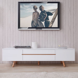 China Modern Furniture Small Satin White Wooden Tv Stand Tv Cabinet