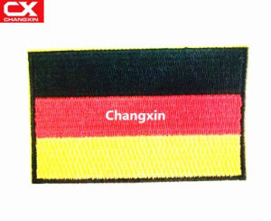China German Flag Embroidered Patch Military Uniform Emblem