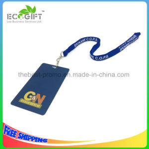 Frosted Hard PVC Lanyard Badge Holder Customized Free Sample