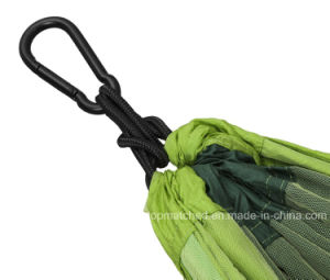 Portable Camping Parachute Nylon Double Green Hammock Tent with Mosquito Netting pictures & photos