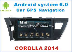 New Ui Android 6.0 Car Navigation for Toyota Corolla 2014 with Car DVD