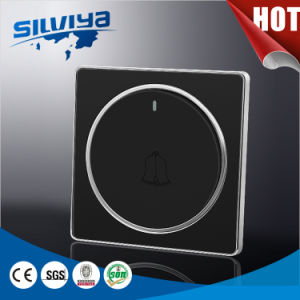 Acrylic Black Color Doorbell Wall Switch for UK pictures & photos