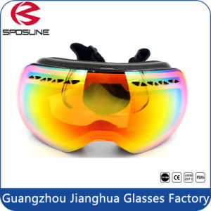 Dual Layer Spherical Snow Goggles 100% UV Protective Anti Fog Snowboarding Ski Goggles pictures & photos