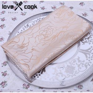 Polyester Quality Jacquard Flower/Bloom Design Wide Width Table Cloth (DPF10789) pictures & photos