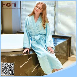 Women Plain Bathrobe, 100% Cotton Women Bathrobe