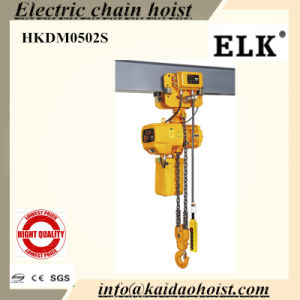Elk 5ton Electric Chain Hoist with Manual Trolley--CE Certificates pictures & photos
