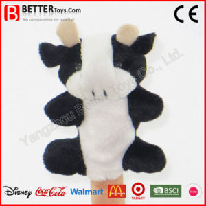 Stuffed Plush Animal Cow Finger Puppet for Baby Kids pictures & photos