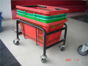 Powder Coated Metal Shopping Basket Collector pictures & photos