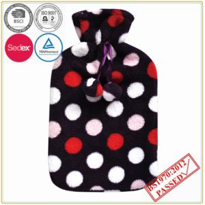 Best Quality Hot Water Bottle with Soft Coral Fleece Cover pictures & photos