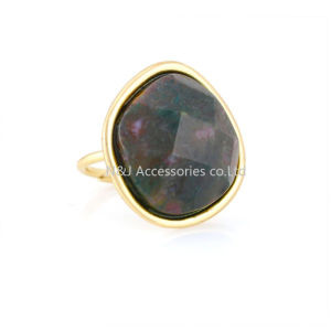 Natural Stone Ring for Women Gold Plated Fashion Cool Punk Style Rings Jewelry Wholesale