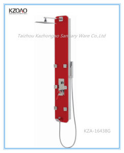 Kza-16438g Red Painted Glass Shower Panel
