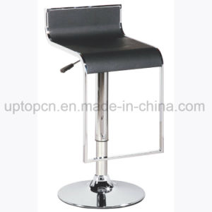 Height Adjustable High Bar Stool with Chrome Steel Chair Base (SP-HBC307) pictures & photos