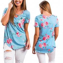 Fashion Women Leisure Casual Printed Clothes Blouse pictures & photos