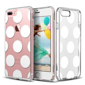 Clear Integrated Cover Soft TPU Bumper+ Hard Back Panel Case for 5.5 Inches iPhone 7 Plus