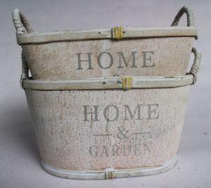 Manufacturers Selling Hand Word Grey White with High Quality and Practical Flowerpot
