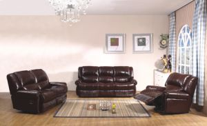 Modern Recliner Sofa with Genuine Leather Sofa Set